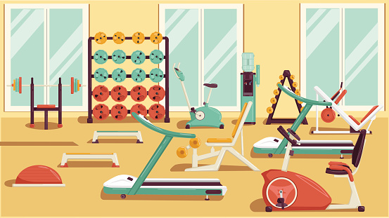 Gym stock illustrations