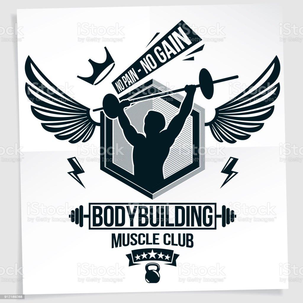 Salle De Gym Dépliant Créé Avec Illustration Vectorielle De