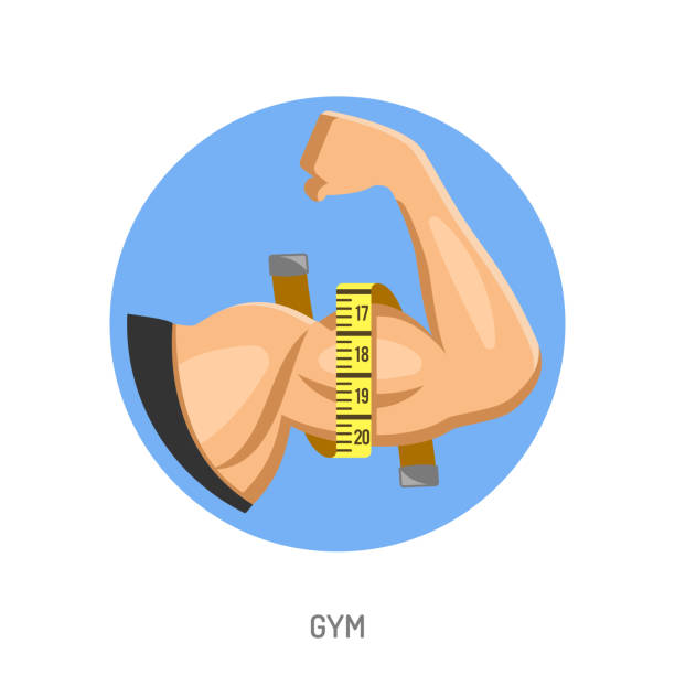 Gym and Fitness Concept vector art illustration