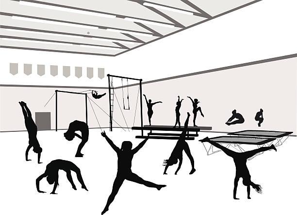 ジムと gymnasts - 体操競技点のイラスト素材/クリップアート素材/マンガ素材/アイコン素材