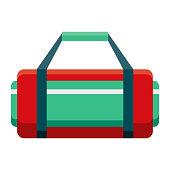 istock Gym Bag Icon on Transparent Background 1282932704