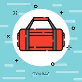 Gym Bag Open Outline School Supplies Icon