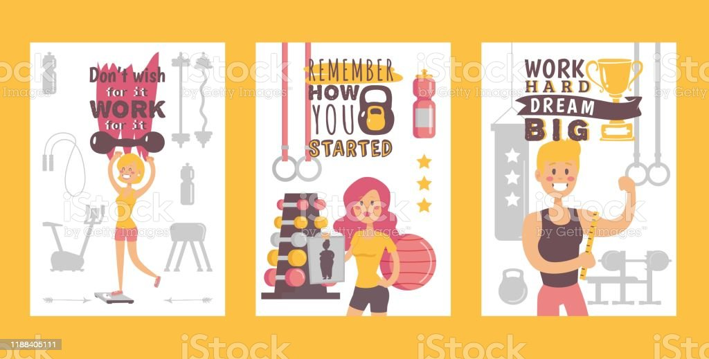 Vetores De Bandeiras Da Ginástica Ilustração Do Vetor Cartaz