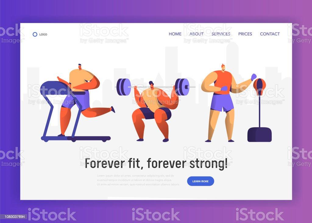8135ecc0e Conjunto de caracteres de treinamento de boxe ginásio para Web Design.  Esporte Cardio Workout Colecção