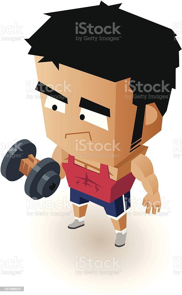 Gym Boy royalty-free stock vector art