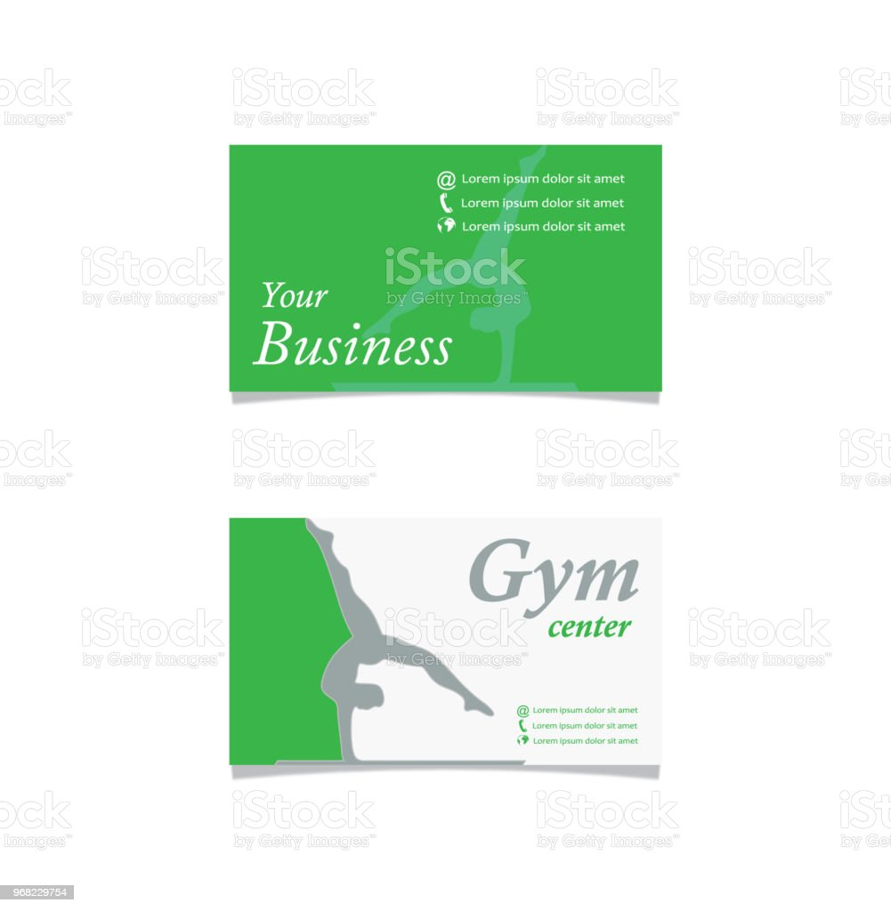 Gym Business Card Stock Vector Art & More Images of Abstract ...