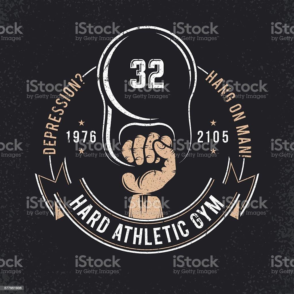 gym emblem vector art illustration