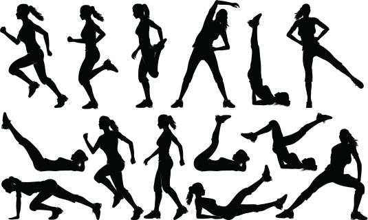 Woman silhouette stock illustrations