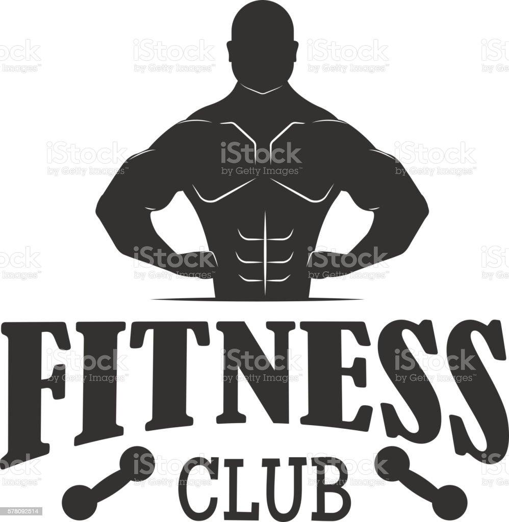 Gym Fitness Symbols Vector Badge Stock Illustration ...