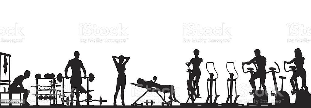 Gym foreground vector art illustration