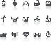 Gym Icons | Simple Black Series