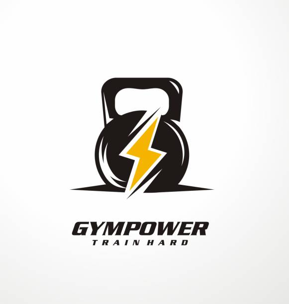 Gym power logo design idea vector art illustration