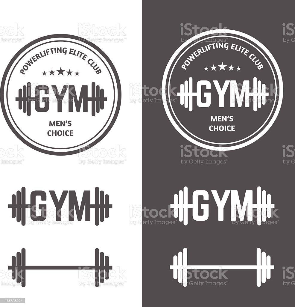 Gym Powerlifting vector art illustration