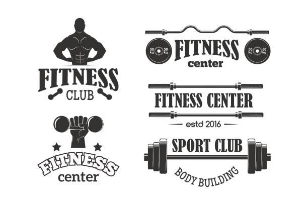 Gym sport club fitness emblem vector illustration vector art illustration