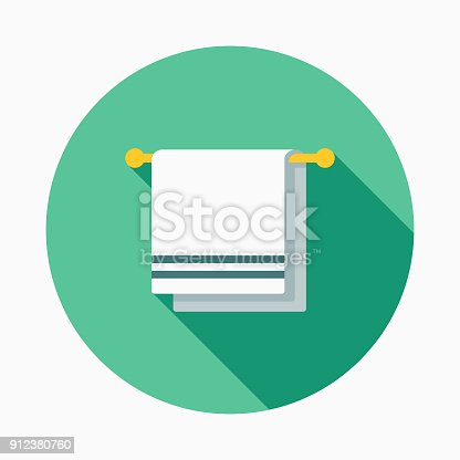 istock Gym Towel Flat Design Fitness & Exercise Icon 912380760