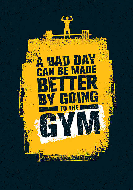 Gym Workout Motivation Quote - Illustration vectorielle