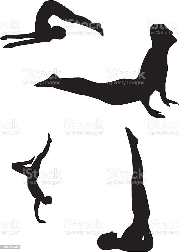 Gymnast 01 royalty-free stock vector art
