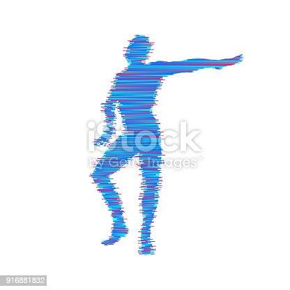 Gymnast Man Is Posing And Dancing Sport Symbol Design Element Vector