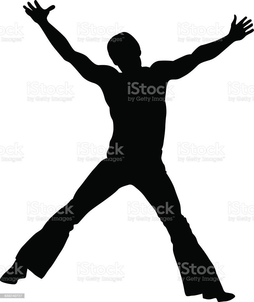 Gymnast man vector art illustration