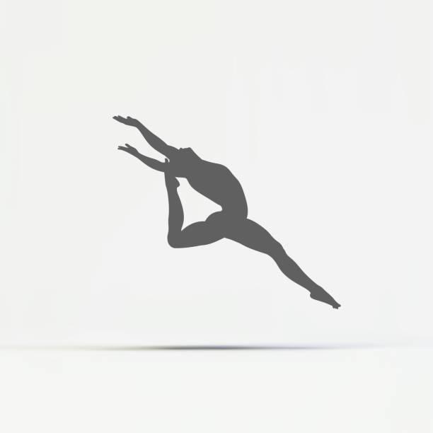 Gymnast Silhouette Of A Dancer Sport Symbol Stock Vector Art More