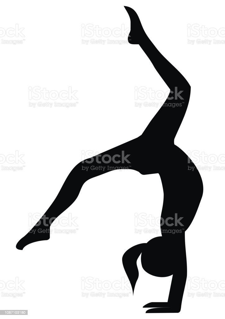 Silhouette Des Exercices De Gymnastique Noir Vecteurs Libres De Droits Et Plus D Images Vectorielles De Activite Avec Mouvement Istock