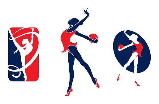 Gymnastic girl logo
