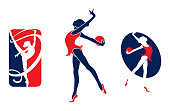 Gymnastic girl logo