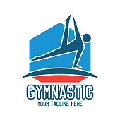 gymnastic sport insignia with text space for your slogan / tag line, vector illustration
