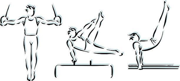 体操の実状 - 体操競技点のイラスト素材/クリップアート素材/マンガ素材/アイコン素材
