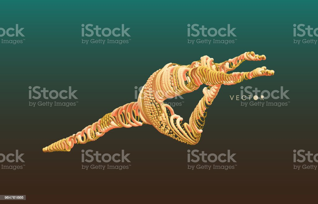 Gymnastics activities for icon health and fitness community. 3d vector Illustration. Wire connection to virtual reality. royalty-free gymnastics activities for icon health and fitness community 3d vector illustration wire connection to virtual reality stock vector art & more images of abstract
