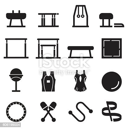 Gymnastics Equipment Icons