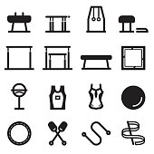 Gymnastics Equipment Icons