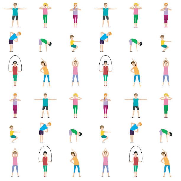 体操お子様継ぎ目のないパターン - 体操競技点のイラスト素材/クリップアート素材/マンガ素材/アイコン素材