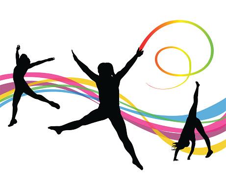 Gymnastics Ribbon Wand