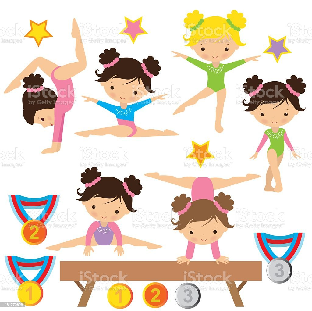 Gymnastique illustration vectorielle - Illustration vectorielle