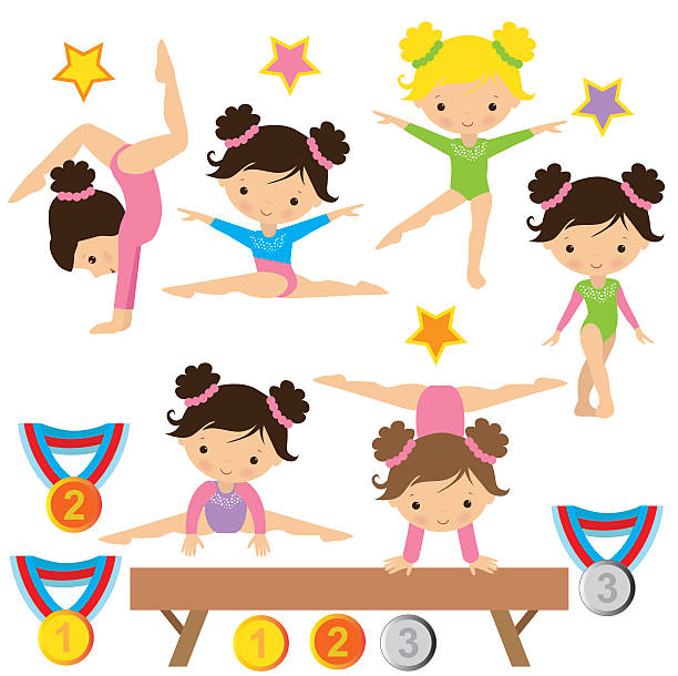 体操ベクトルイラスト - 体操競技点のイラスト素材/クリップアート素材/マンガ素材/アイコン素材