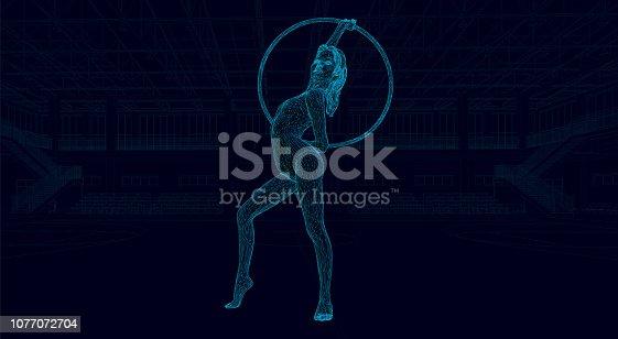gymnastics with hoop