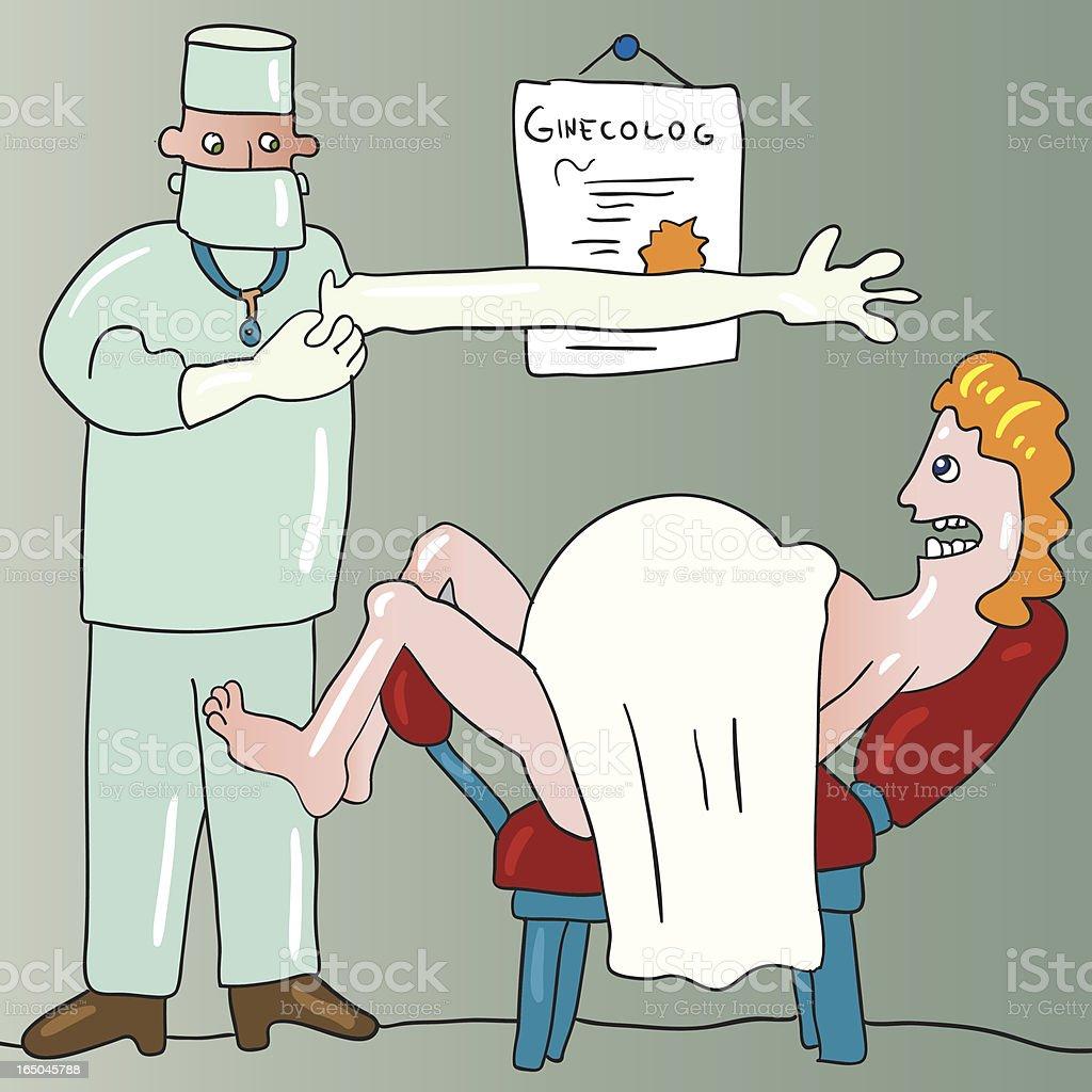 gynecolog vector art illustration