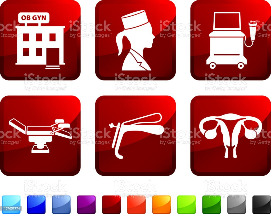 Gynecologist Medical Exam royalty free vector icon set royalty-free gynecologist medical exam royalty free vector icon set stock vector art & more images of activity