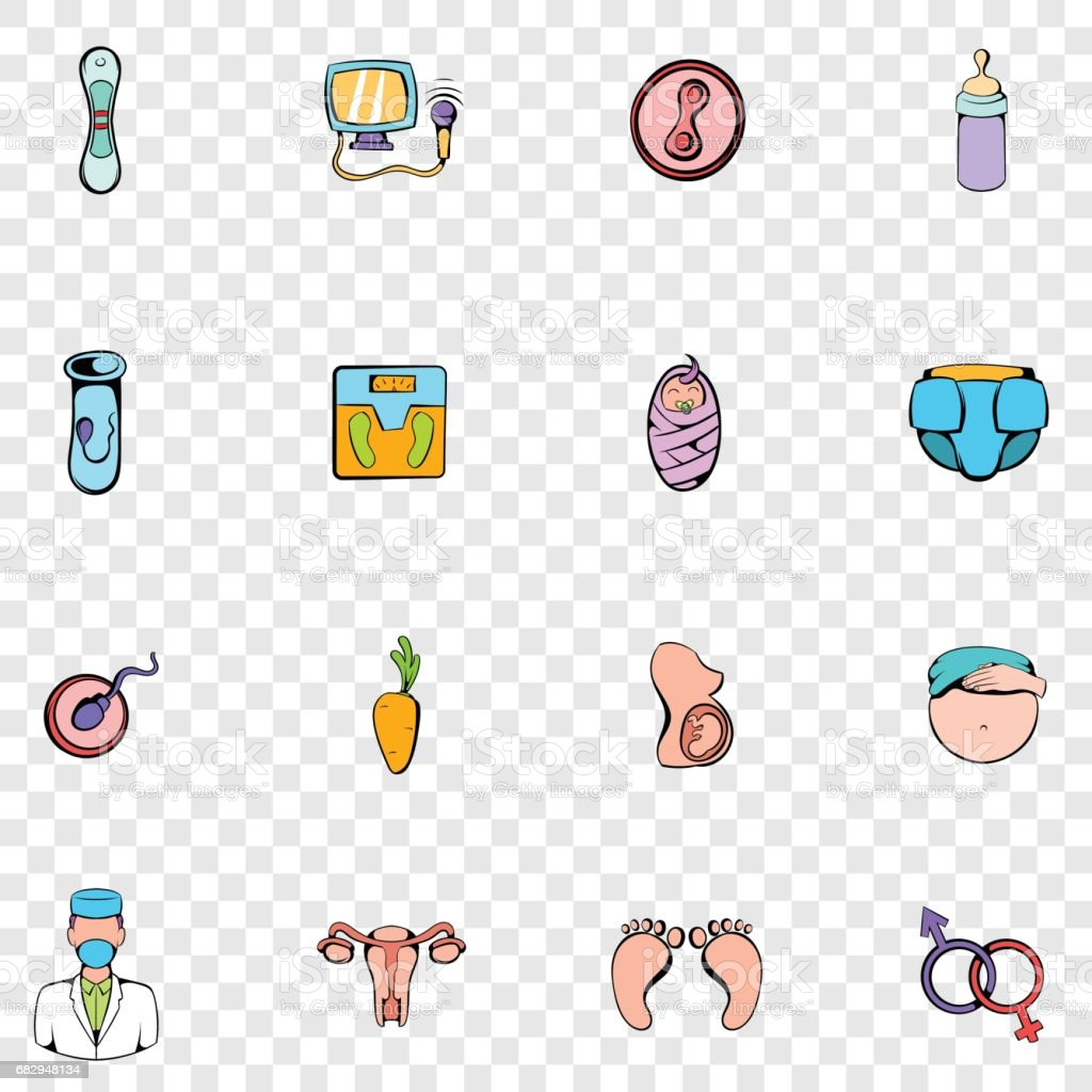 Gynecology set icons royalty-free gynecology set icons stock vector art & more images of art