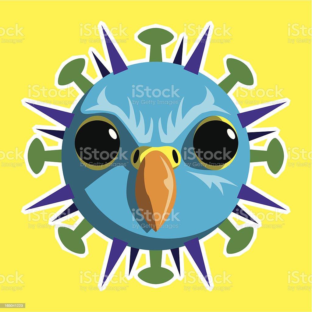 h5n1 Bird Flu Virus (Vector) royalty-free stock vector art