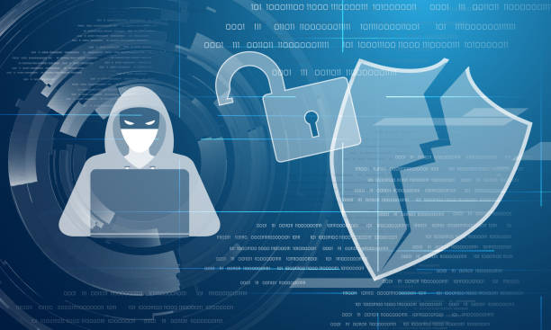 Hacker Angriff abstrakten Hintergrund – Vektorgrafik