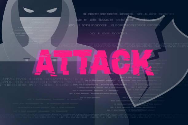 Hacker-Angriff-Design-Hintergrund – Vektorgrafik