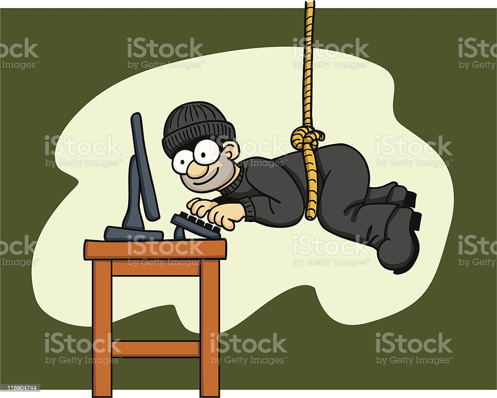 Hacker Crime royalty-free stock vector art