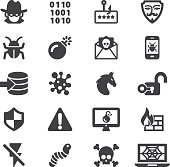 Hacker Cyber Crime Silhouette Icons | EPS10