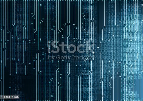 Hacker Cyber Digital Microchip Circuit Board System Backgroundhitech And Technology Concept Designvector Illustration Stock Vector Art & More Images of Abstract 965097144