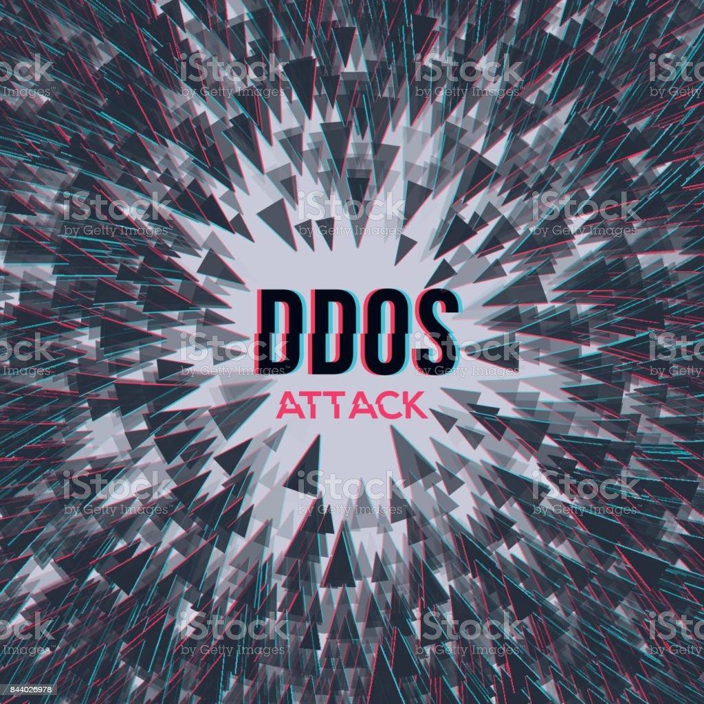 Hacker DDoS attack on abstrackt background. vector art illustration