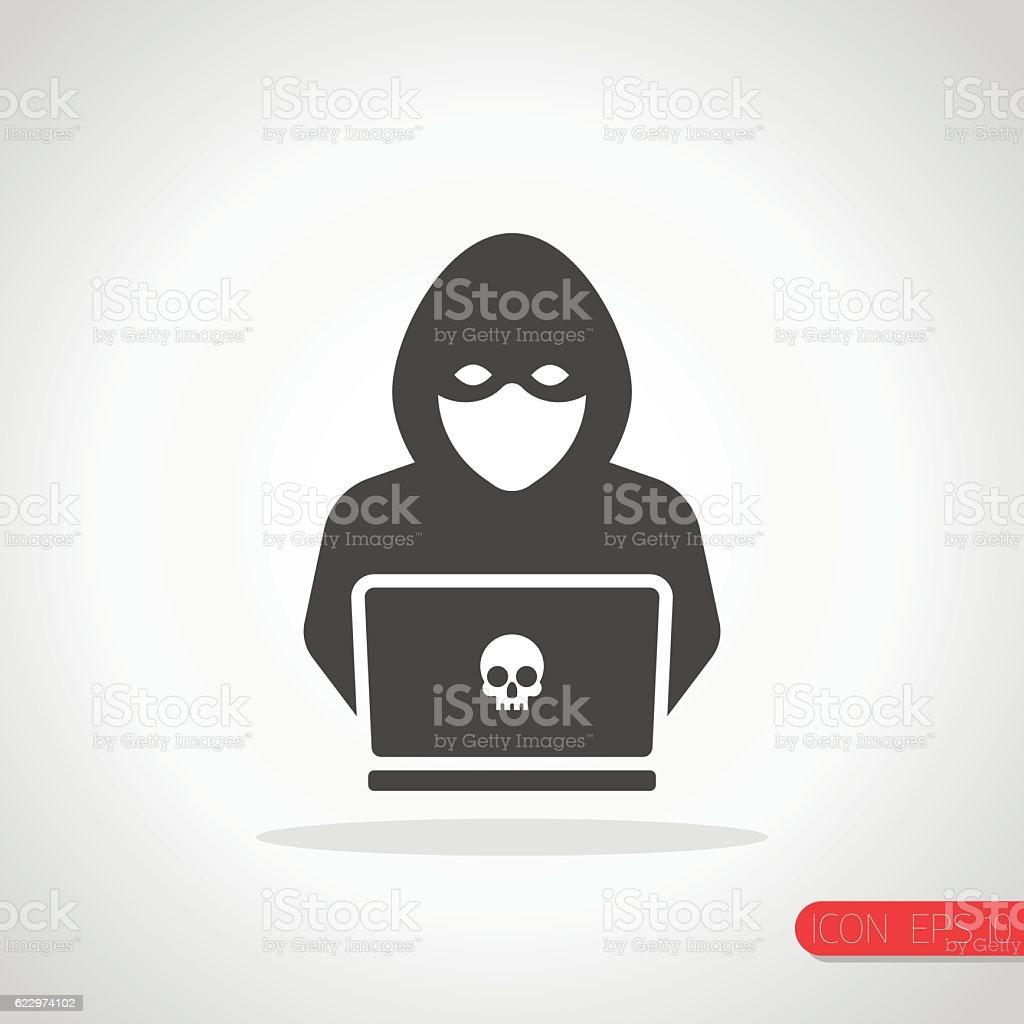 Hacker Icon vector art illustration