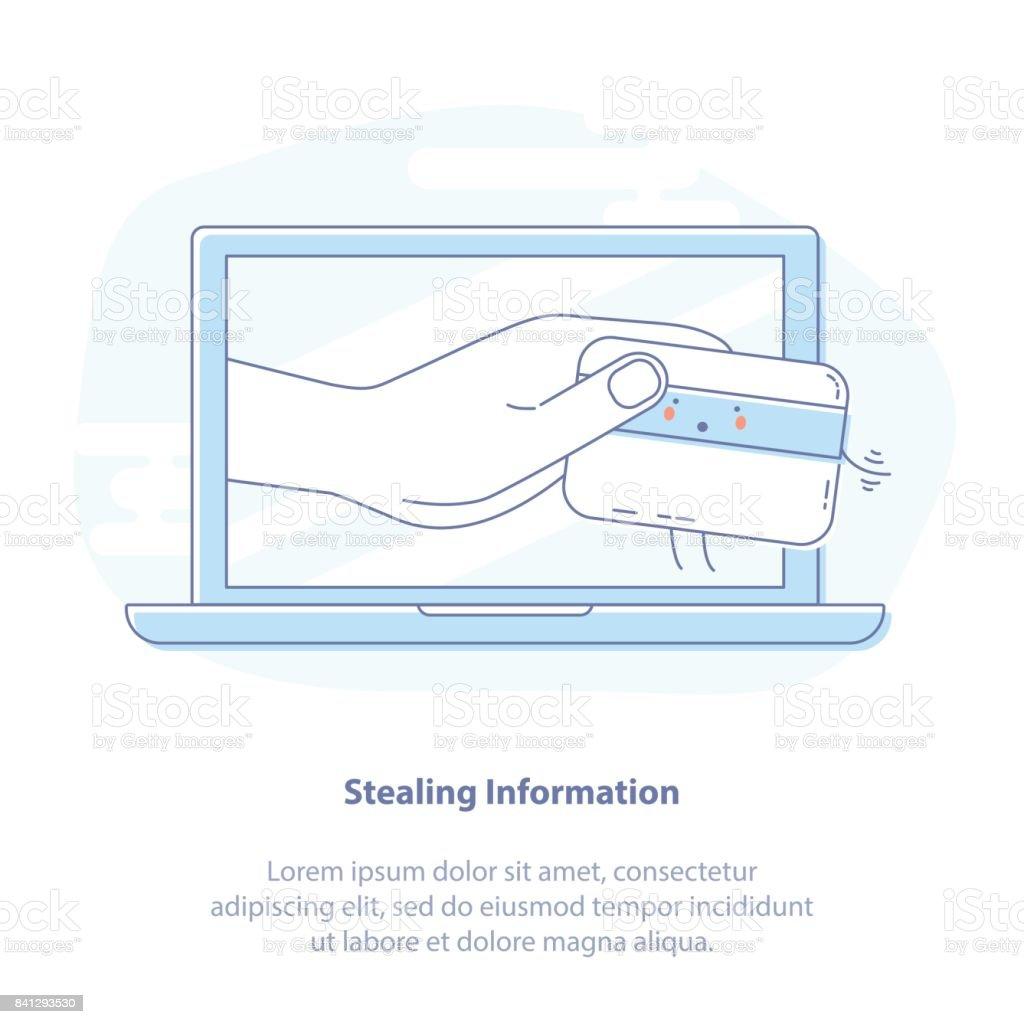 Hacker Stealing Credit Card Data Using Laptop Email Viruses