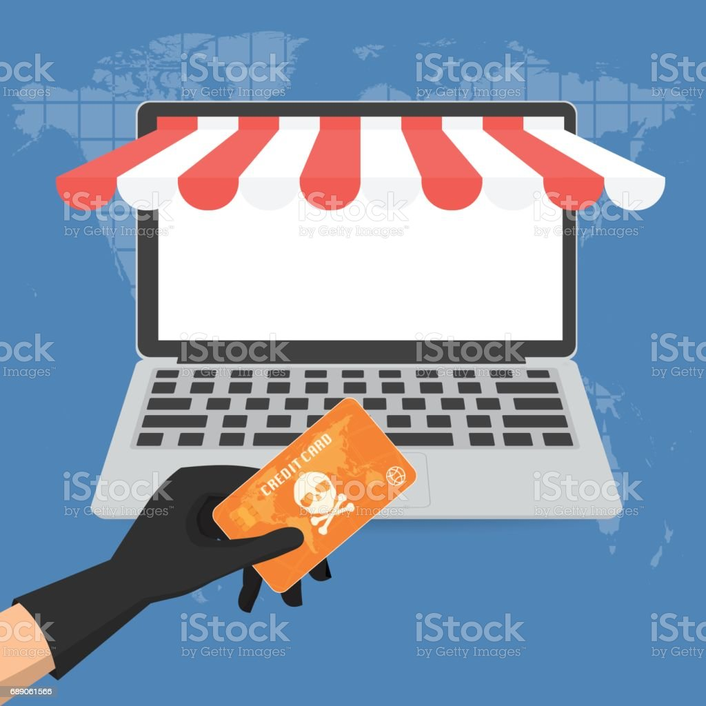 Hacker theft hand holding a credit card fraud with skull and hacker theft hand holding a credit card fraud with skull and crossbones for online paying shop colourmoves